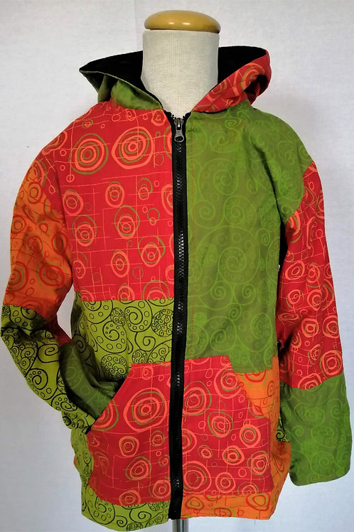 Childrens Fleece Lined Patch Print Jacket