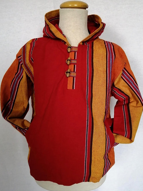 Childrens Stonewash Stripe Kangeroo Jacket