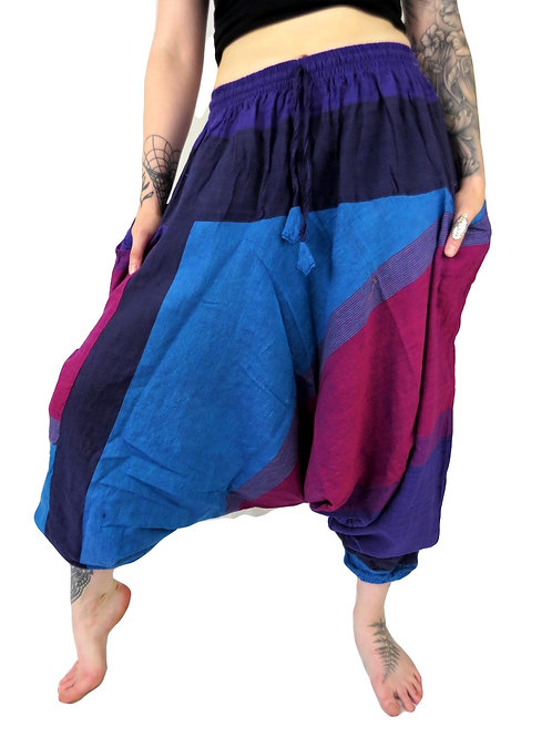 Mix Tone Elastic Waist Afghan Unisex (Available in 2 colours)