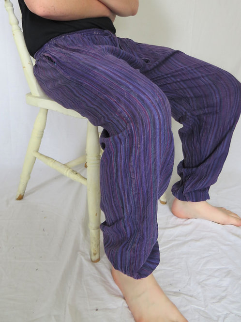 Striped Stonewash Elastic Bottom (in 5 Colours)
