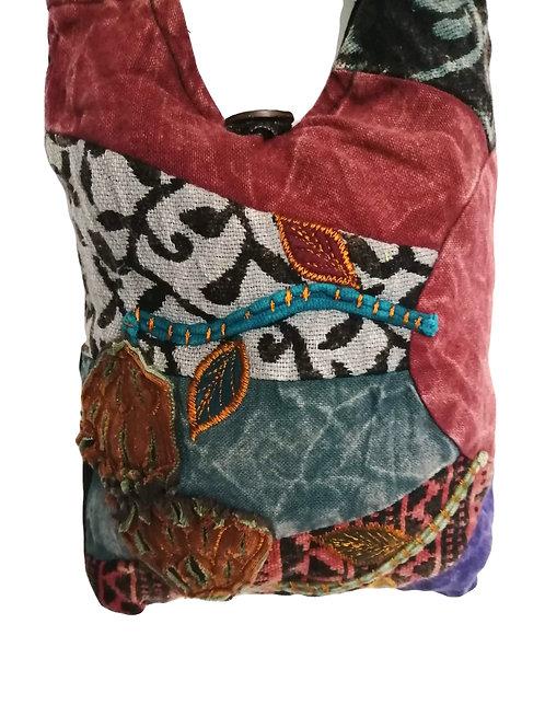 Small Embroidered Patchwork Shoulder Bag