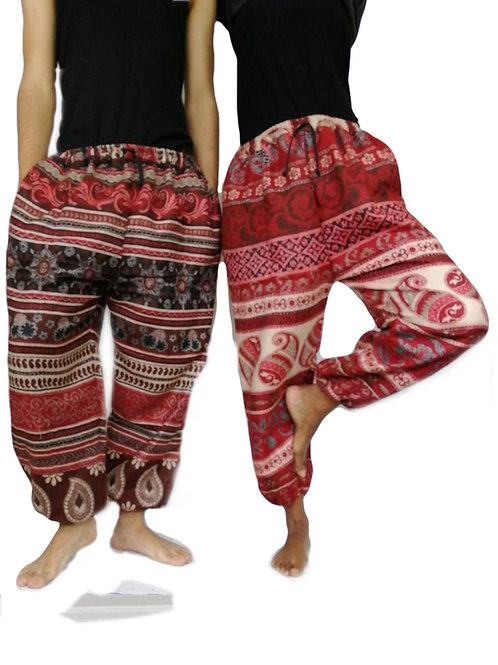 Shawl Elastic Bottom Trousers (in 6 Patterns) P223