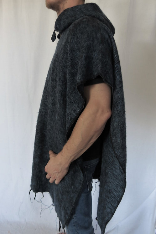 "Acrylic ""Feels like Wool"" Square Hood Plain Poncho (in 3 Colours)"