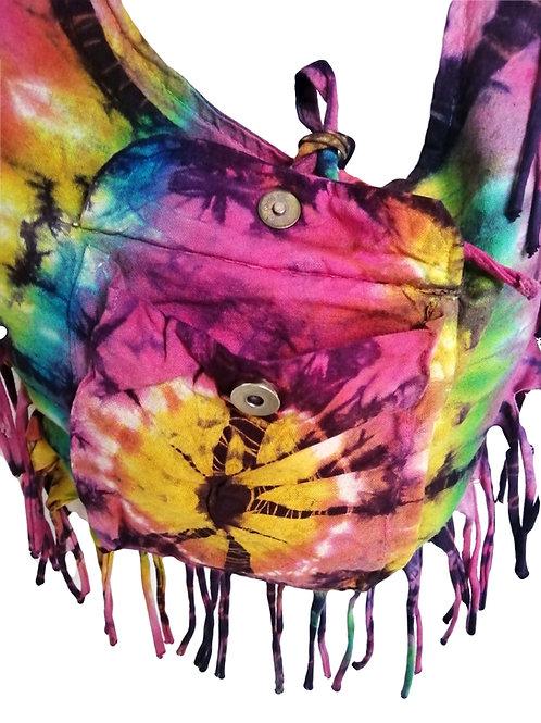 Rainbow Tie Dye Fish Bag