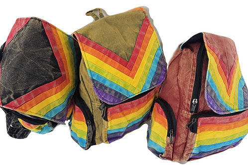 Rainbow 3 Pocket  Backpack
