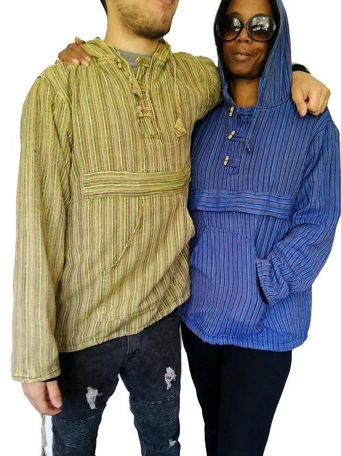 Nepal Stripe Stonewash Pullover Fleece Lined