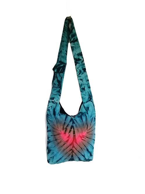 LightBlue/Black Tie Dye Fish Bag
