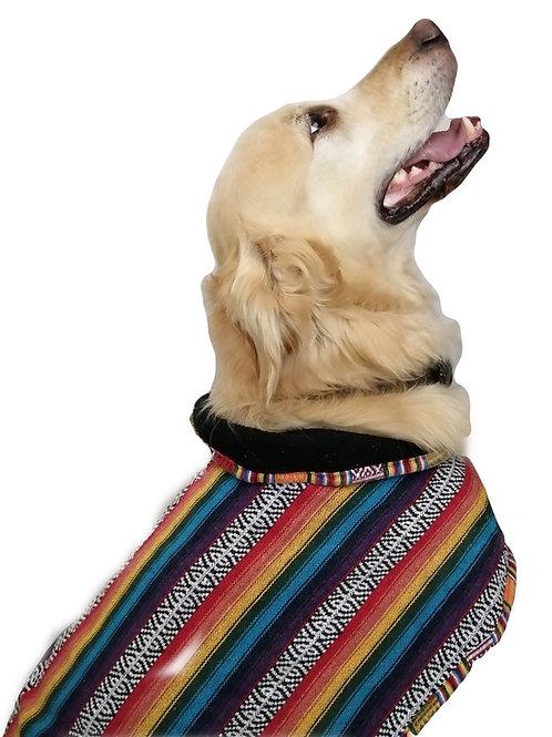 Rainbow Heavy Cotton Fleece Lined Dog Jacket