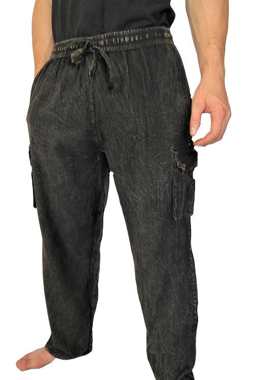 Plain Stonewash Box Pocket Trousers (in 4 Colours)