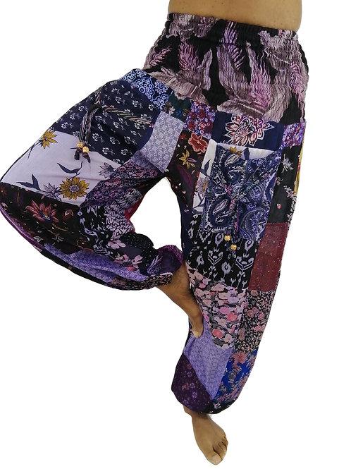 Print Rayon Patchwork Overdye Pocket Natan Trousers (In 3 Colours)