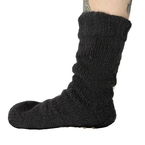 Wool Socks Plain Fleece Lined