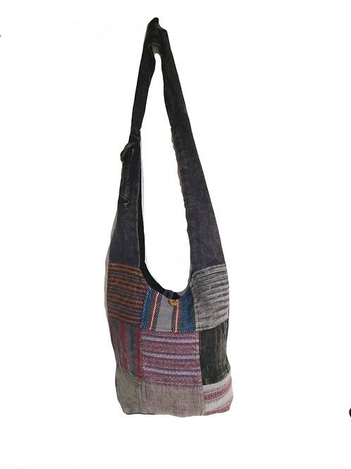 Gari and Tie Dye Cotton Patchwork Baba Fish Bag