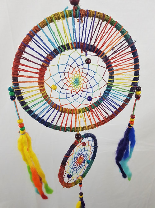 Hemp Multicolour Double Dreamcatcher