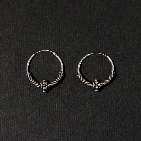 Silver Plated Brass Clasp Hoop Earring (in 3 styles)