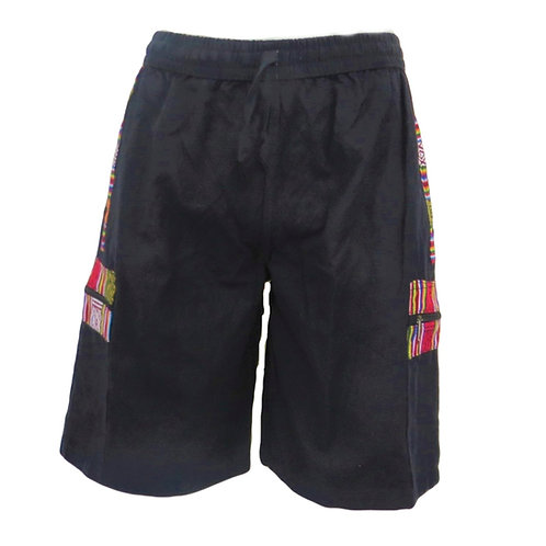 Nepalese Trim Cotton Shorts (Available in 2 colours)