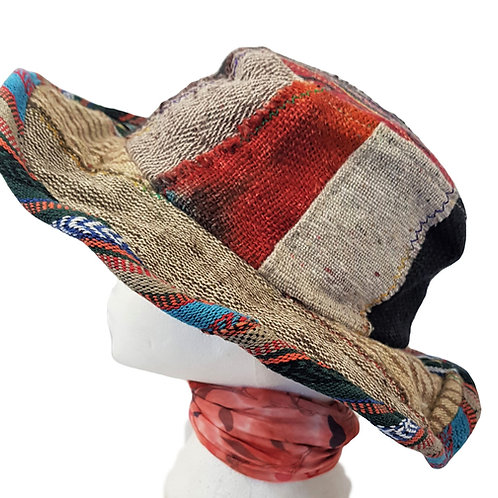 Hemp Cotton Patch Flexible Brim Hat Unisex