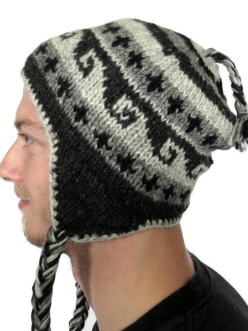 Men's Earflap Naturals Wool Hat