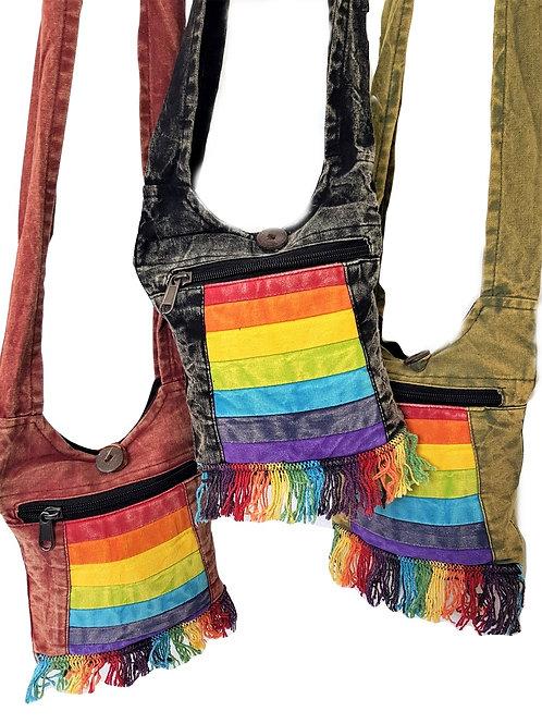 Small Rainbow Tassle Shoulder Bag