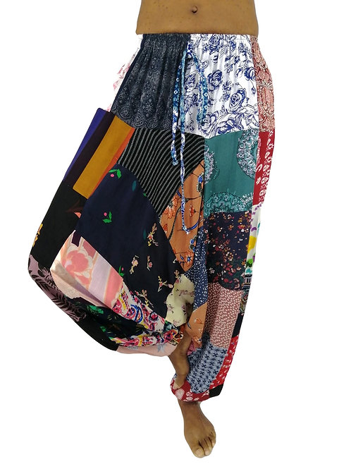 Print Rayon Patchwork Hareem/Afghan Trousers