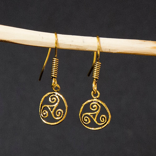 Celtic Spiral in Circle Earring