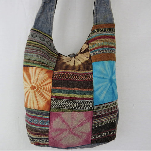 Patch Tie Dye and Gari  Baba Bag