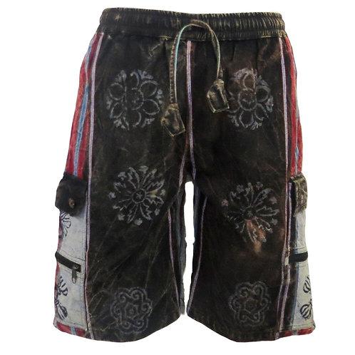 *SALE* Heavy Cotton  Shyama Shorts with Blockprint Grey