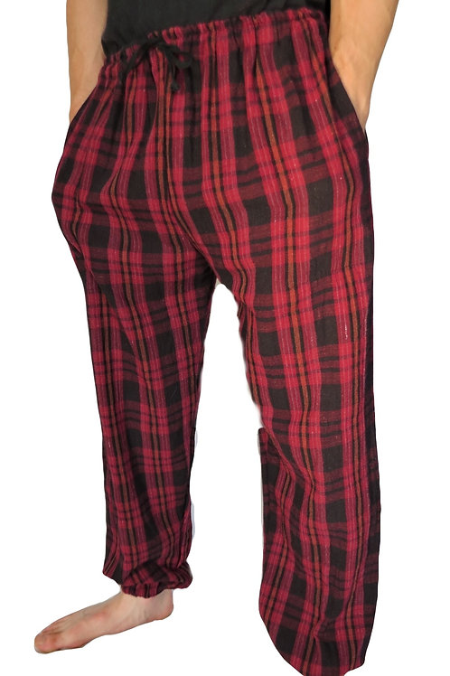 Check Cotton Trousers (in 2 Colours)