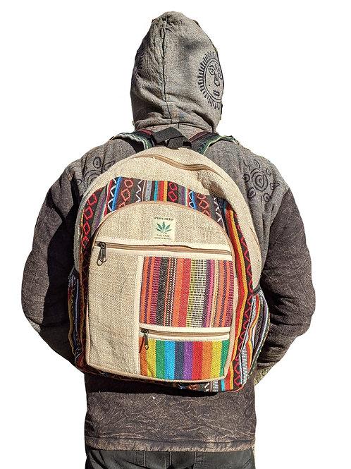 Hemp Cotton Backpack Double Front Zip