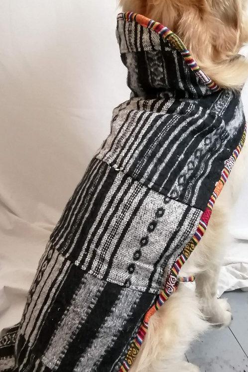 Naturals Brush Cotton Patchwork Fleece Lined Dog Jacket