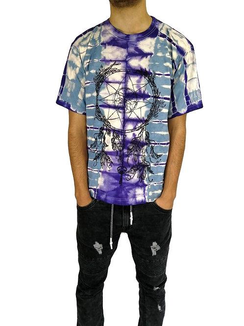 Cotton Dreamcatcher Print Tie Dye T Shirt