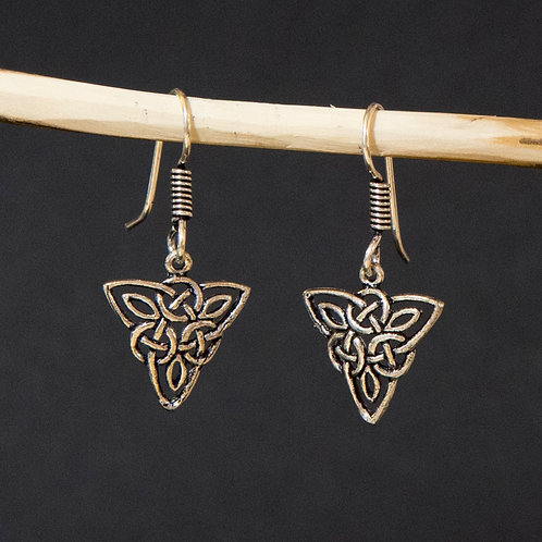 Celtic Knot in a Triangle Earring
