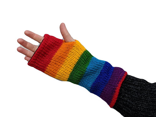 Armwarmer Rainbow (in 2 Colours) Wool and Fleece Lined