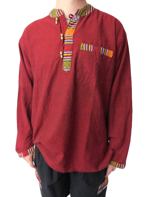 Nepal Trim 3 L/S Button Shirt