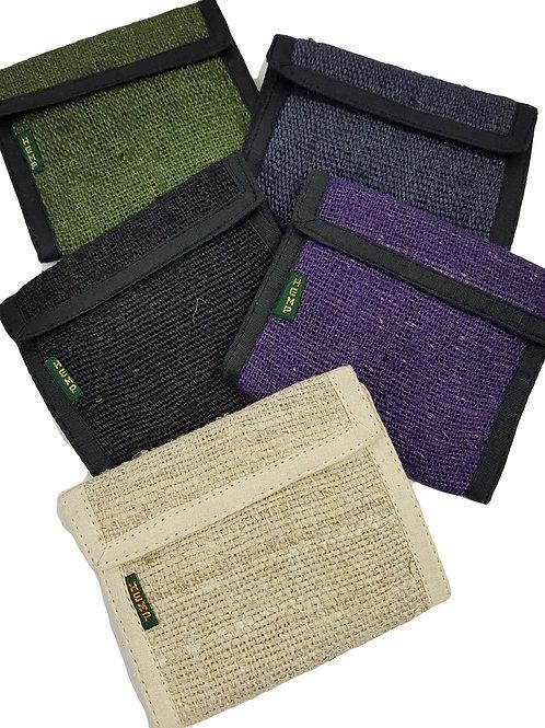 Hemp Velcro Fold Wallet Mix Colours