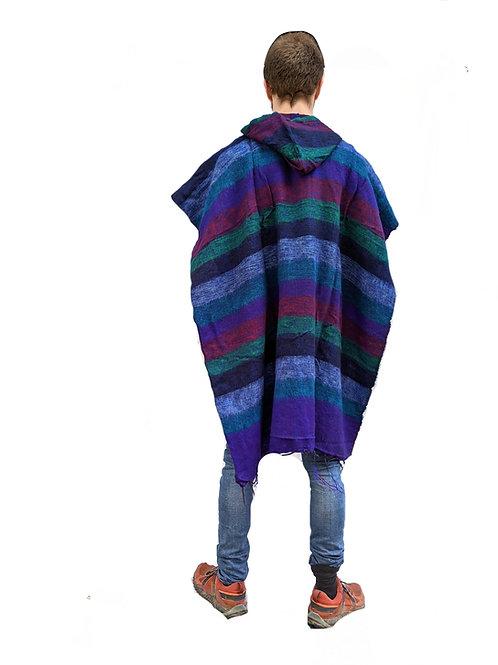 Acrylic Feels like Wool Nepal Stripe Poncho