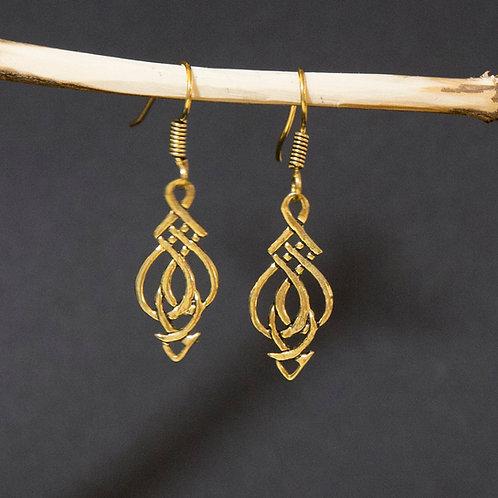 Celtic Knot Arrow Earring
