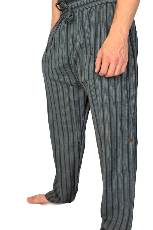 Striped Stonewash Side Pocket Trousers (in 2 Colours)