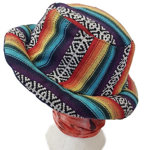 Round Brim Rainbow Hat Unisex