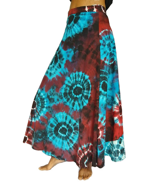 Circle Tye Dye Cotton Wrap Skirt (in 3 Colours)