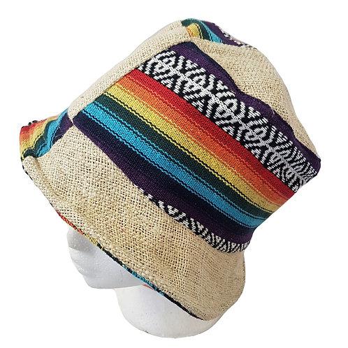 Hemp Cotton Unisex Rainbow Bucket Hat