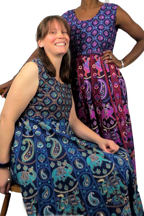 Bagru Cotton Dress (In 4 Colours)
