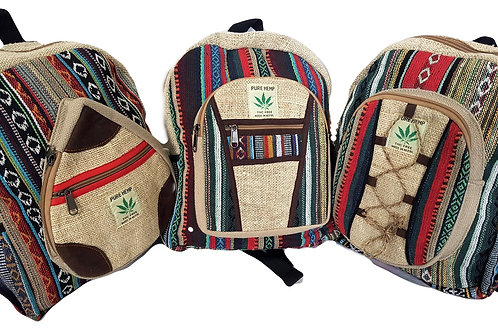Small Hemp Cotton Backpack (in 3 styles)