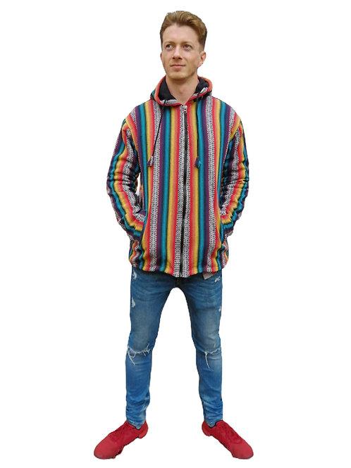 Rainbow Fine Woven Cotton Fleece Lined Jacket