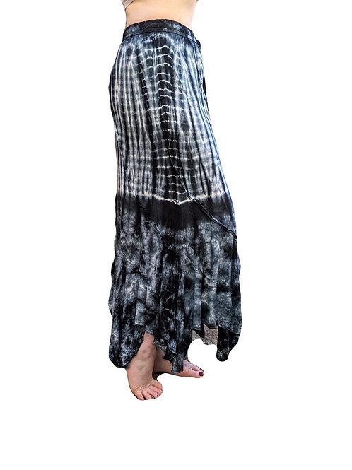 Viscose Tie Dye Jangly Long Skirt