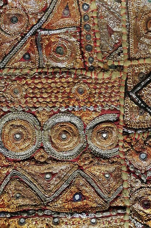 Vintage Jari Patchwork Embroidery Hanging