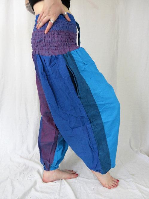 2 Tone Elastic Bottom Trousers (in 2 Colour)
