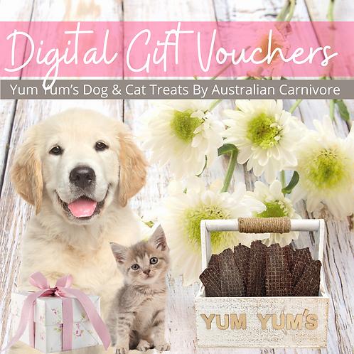 Dog & Cat Treats Gift Vouchers