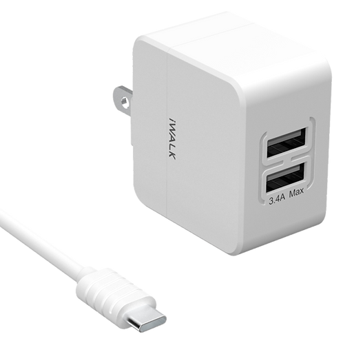 iWALK - USB Type C Dual Port - Wall Charger