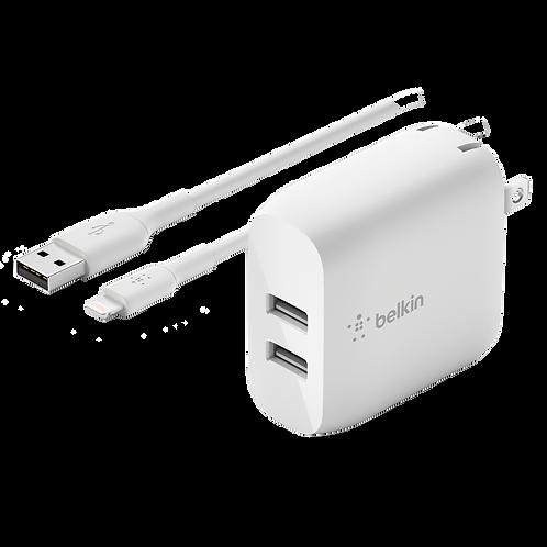 BELKIN - Dual Port Apple Lightning 24W - Wall Charger