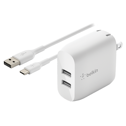 BELKIN - Dual Port USB Type C 24W - Wall Charger